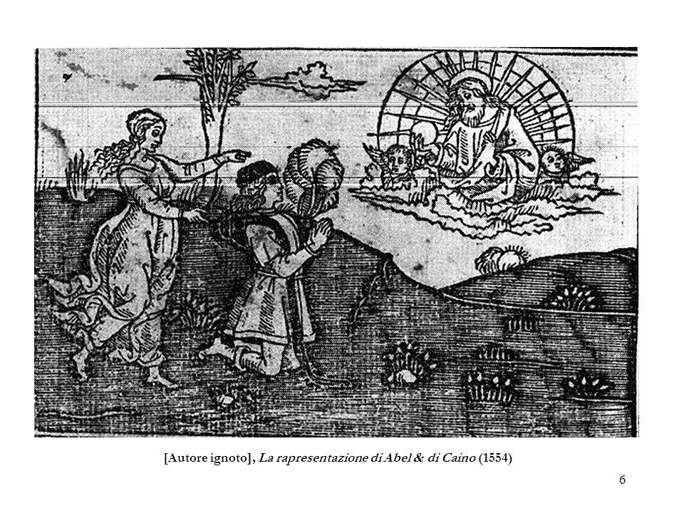 [Autore ignoto], La rapresentazione di Abel & di Caino (1554)